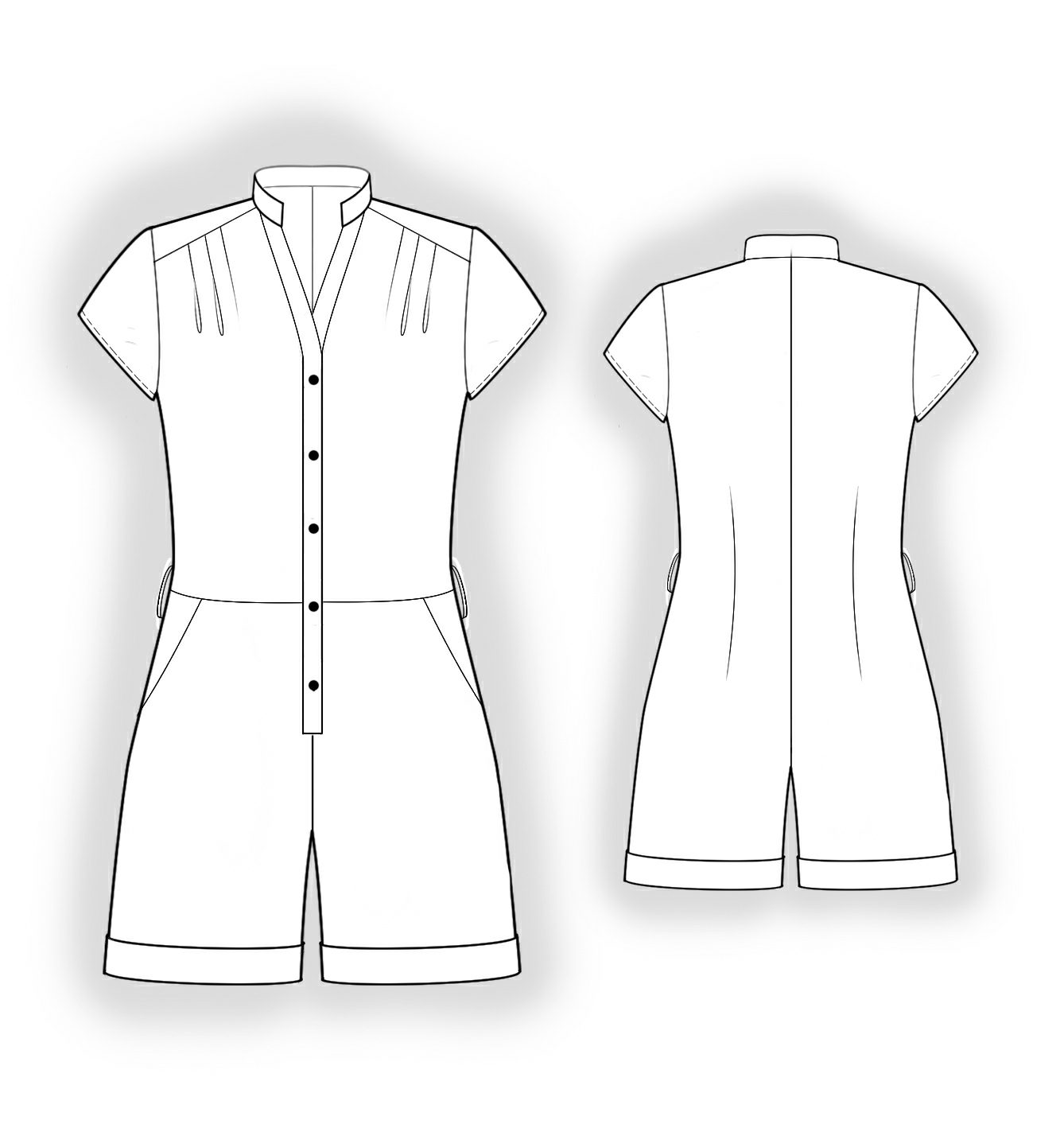 One-Piecer - Sewing Pattern #4053. Made-to-measure sewing pattern ...