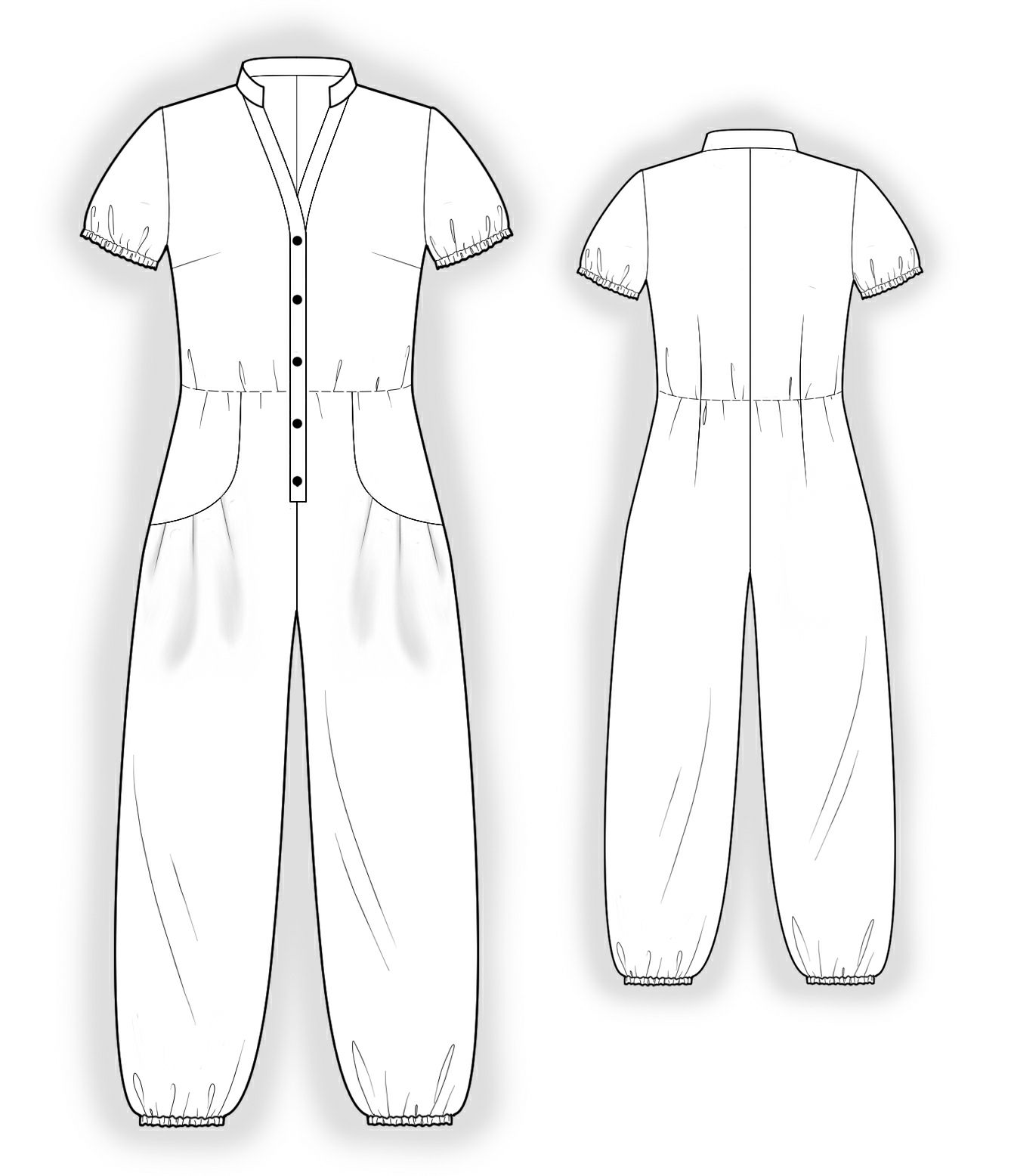With decorative pockets sewing pattern 4044 made to measure sewing