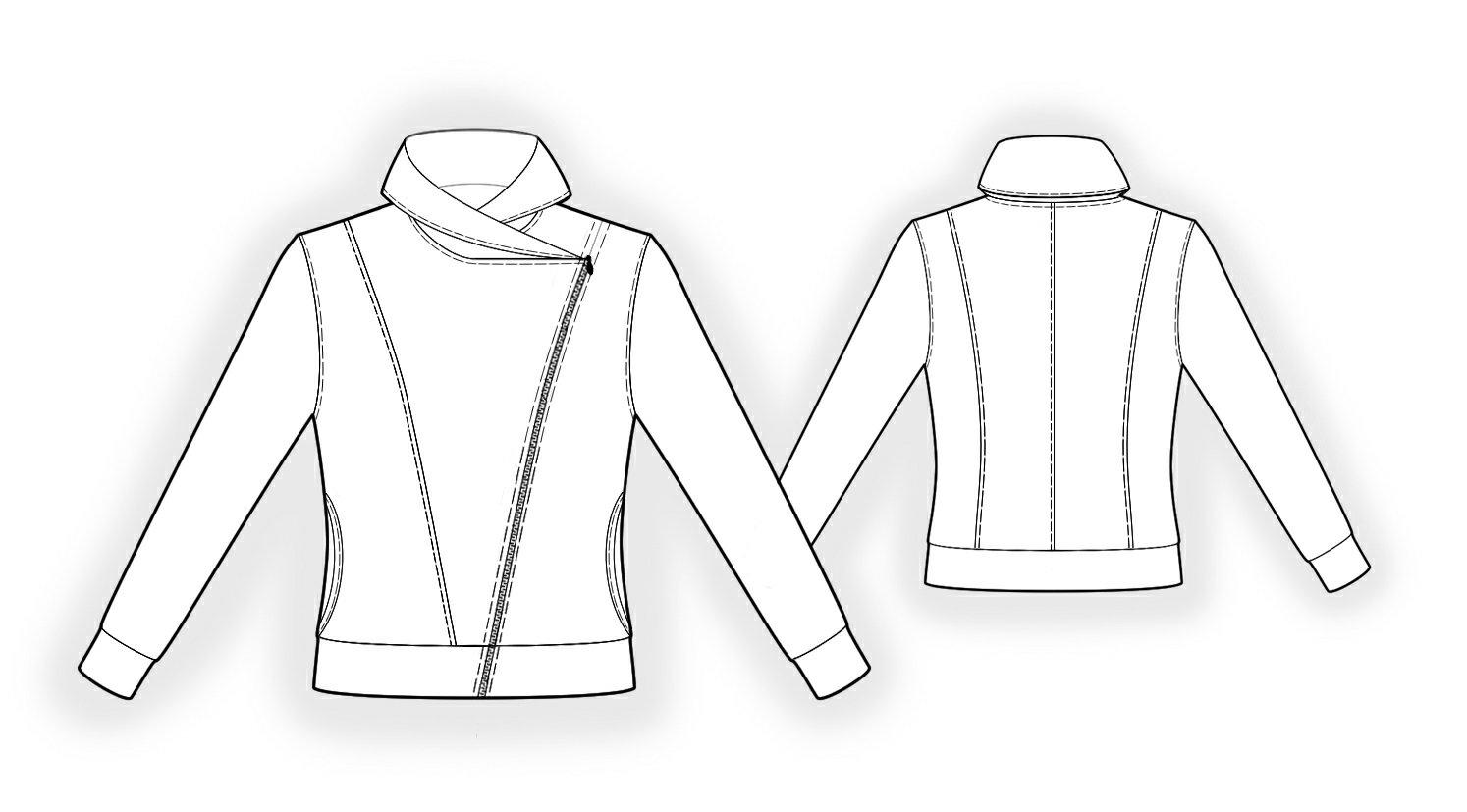Sweatshirt - Sewing Pattern #4011. Made-to-measure sewing pattern ...