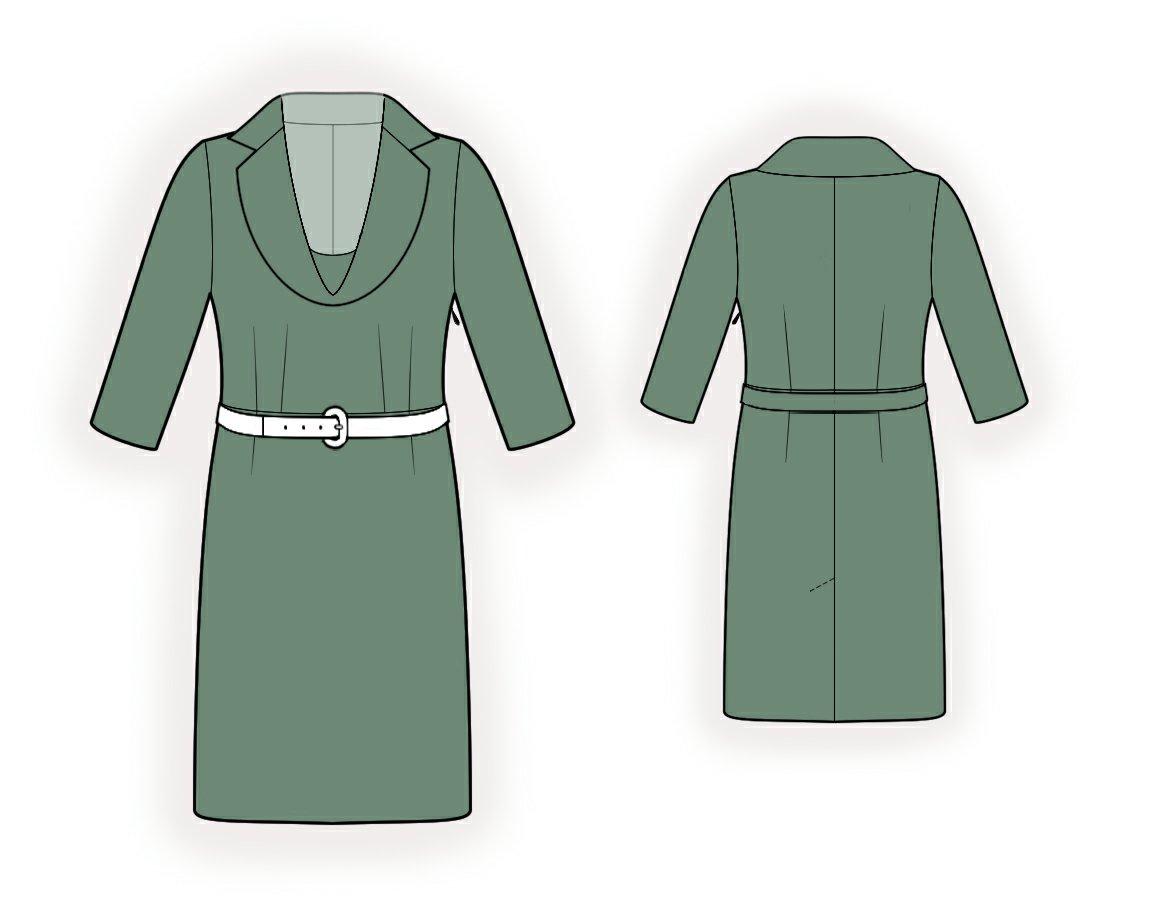 Как сшить платье с хомутом с воротником 641