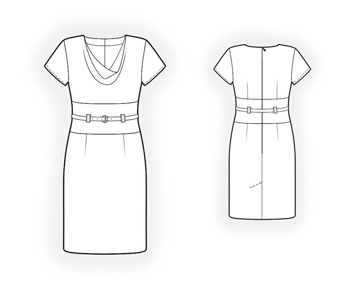 V-образный ворот в платье как сшить 886