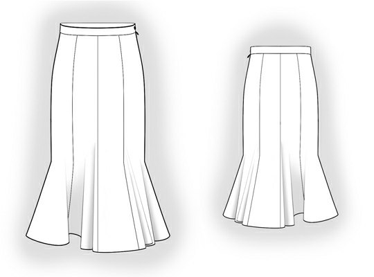 8 Gore Skirt Sewing Pattern 5925 Made To Measure Sewing Pattern