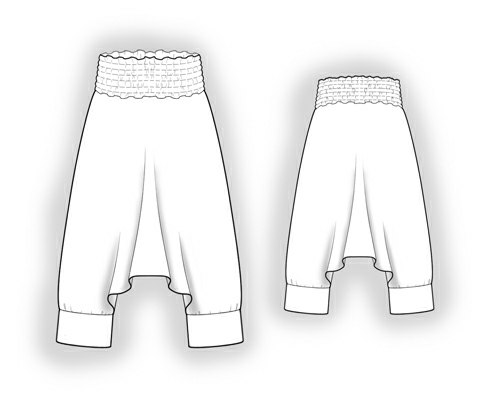 Sarouel/harem Pants - Sewing Pattern #5902. Made-to-measure sewing ...