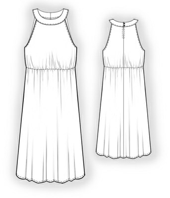 Dress - Sewing Pattern #5900. Made-to-measure sewing pattern from ...