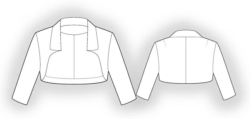 Bolero Jacket Pattern Bolero Sewing Pattern 5865