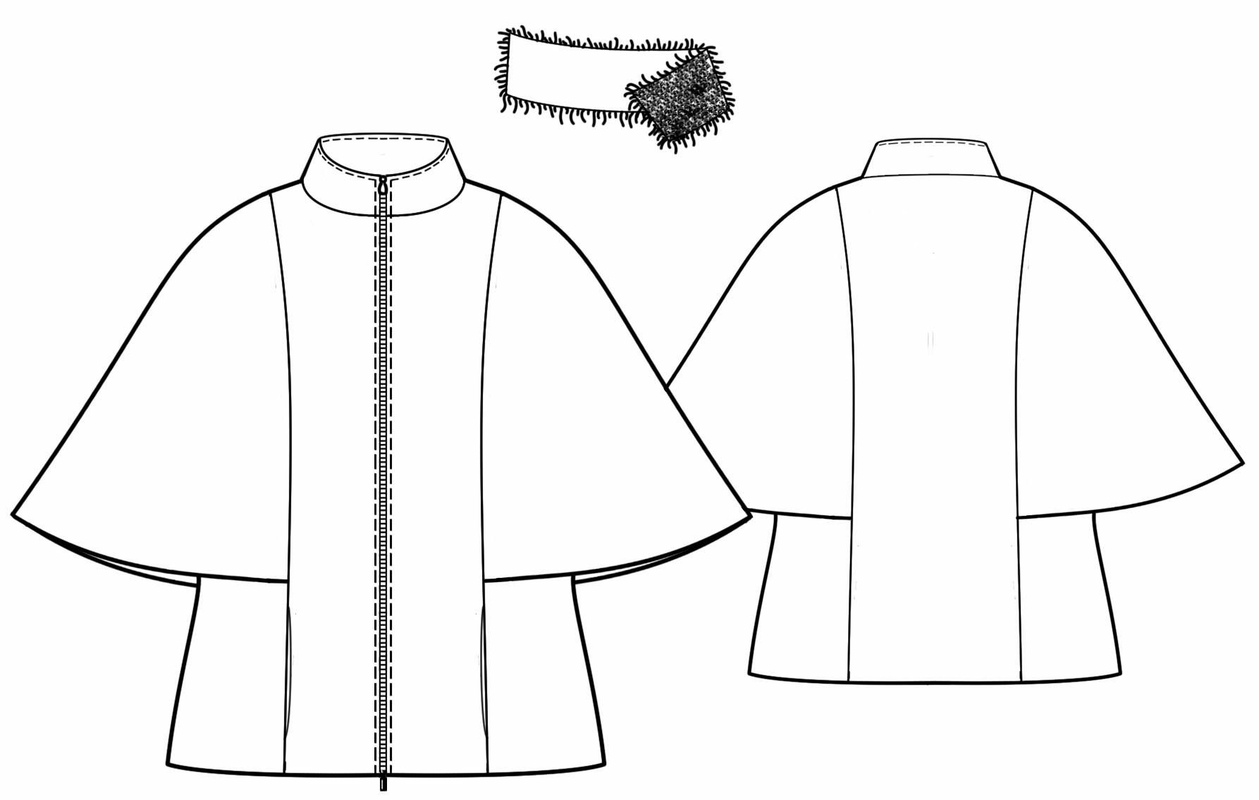Пальто пончо своими руками фото и выкройки 36