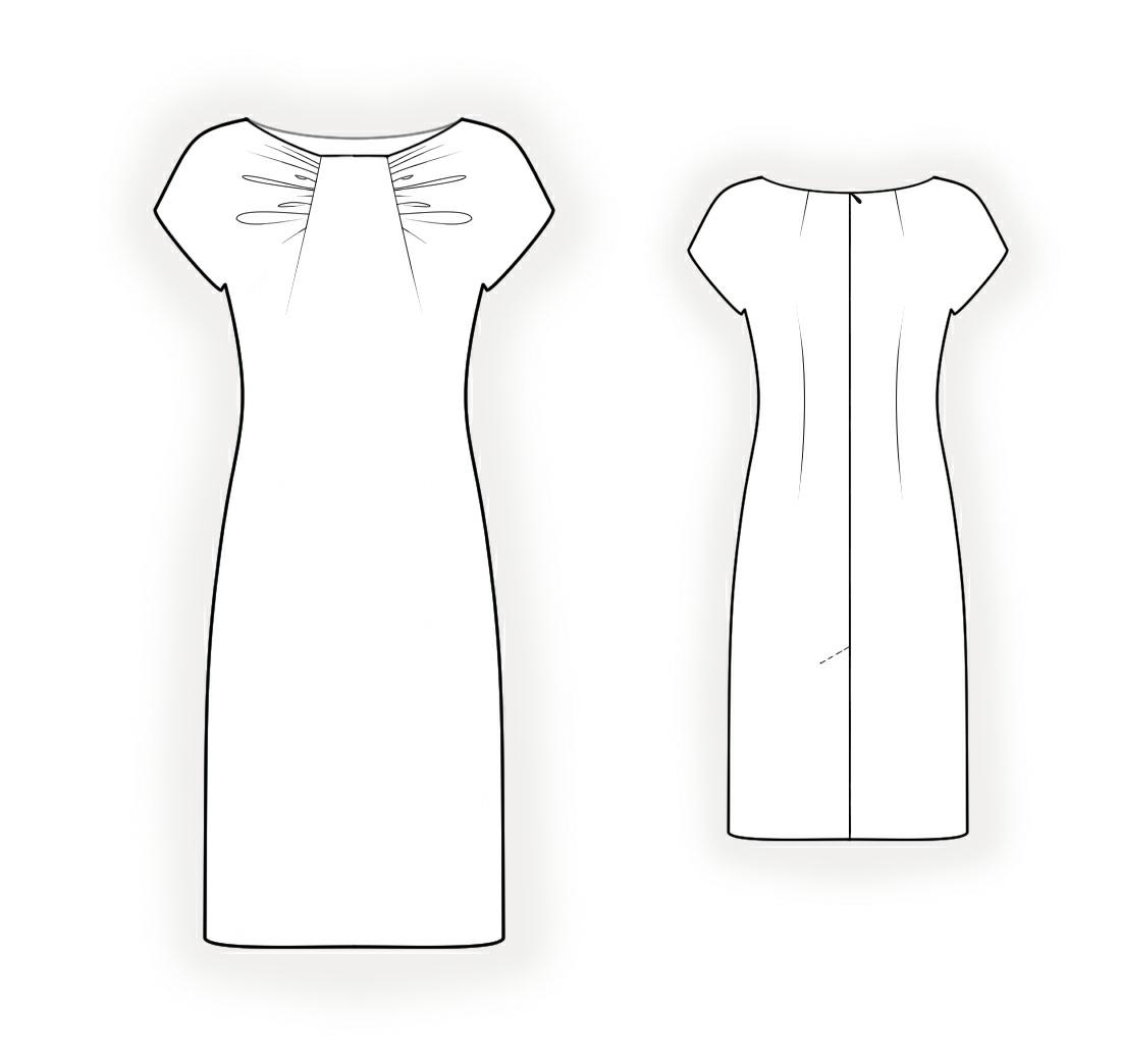 Выкройки платьев с драпировкой лифа