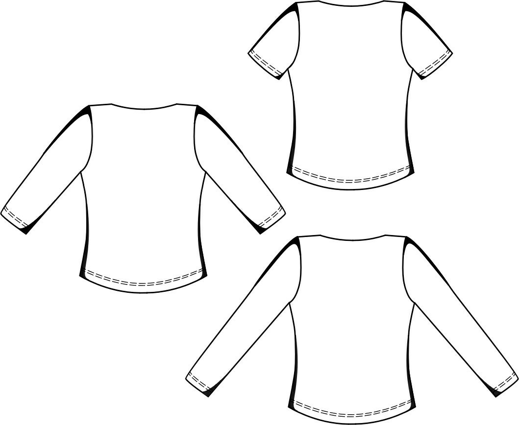 Boat-Neck Top - Sewing Pattern #5645. Made-to-measure sewing pattern ...
