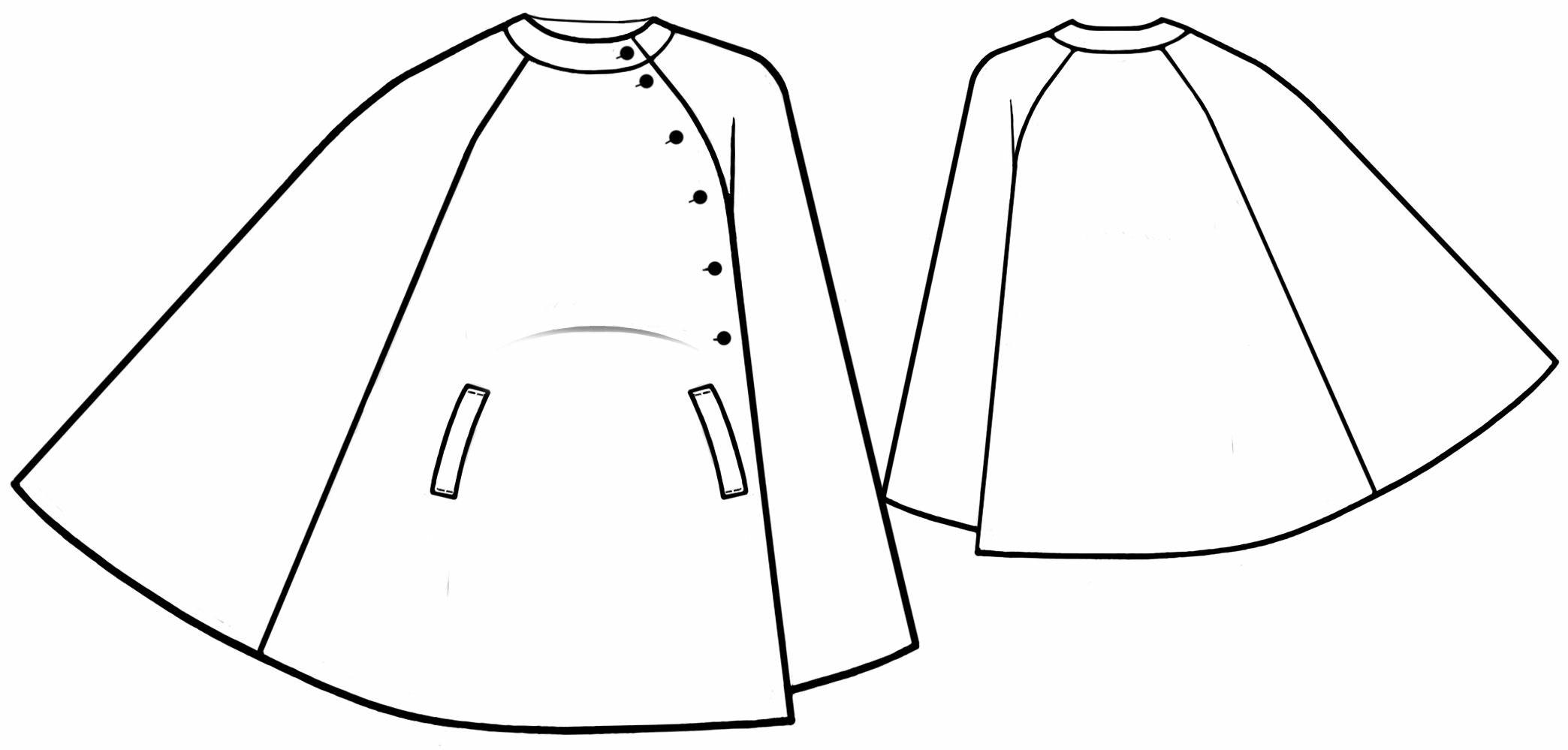 Пальто пончо своими руками фото и выкройки 46