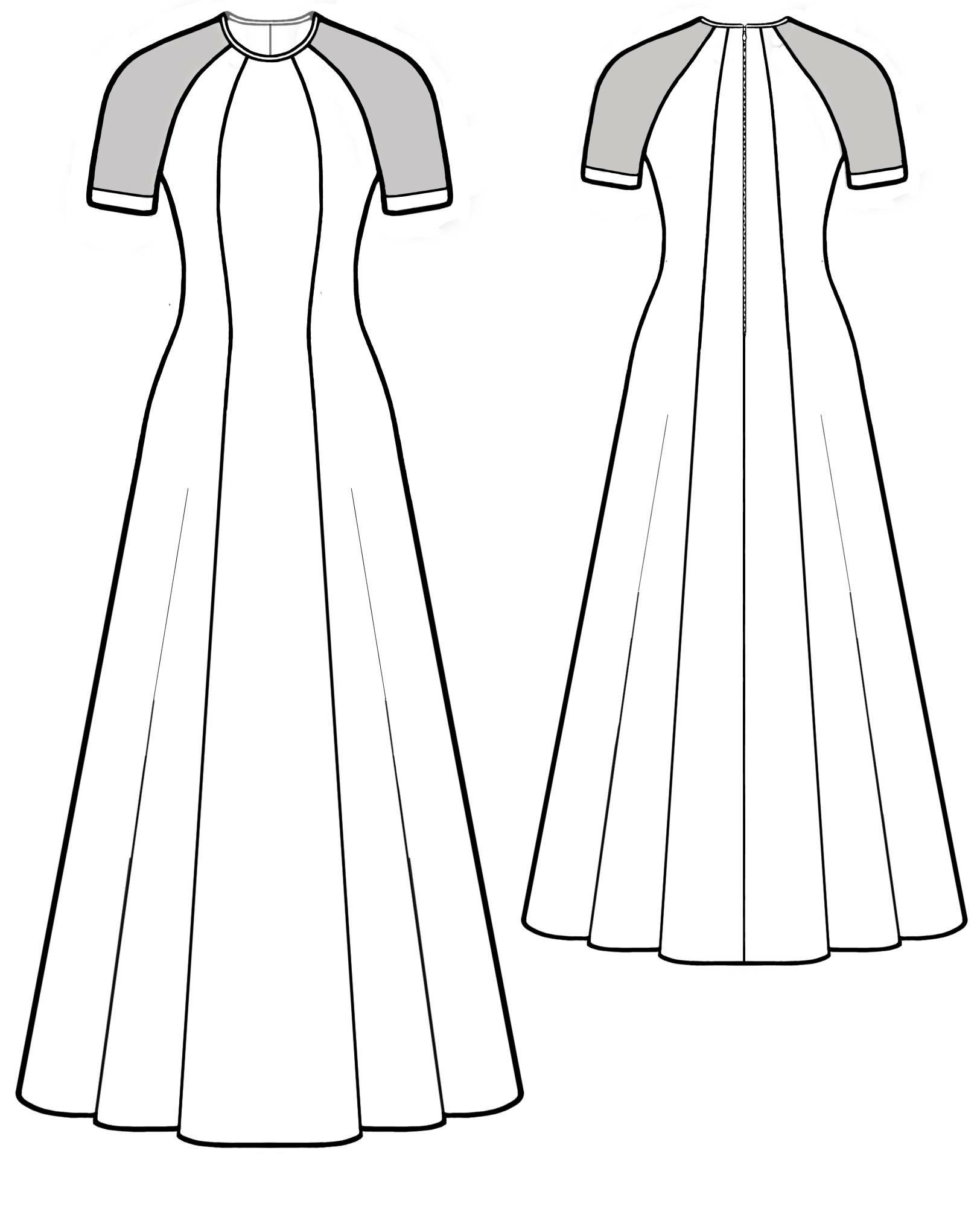 с бурда в рукавом пол платье выкройка