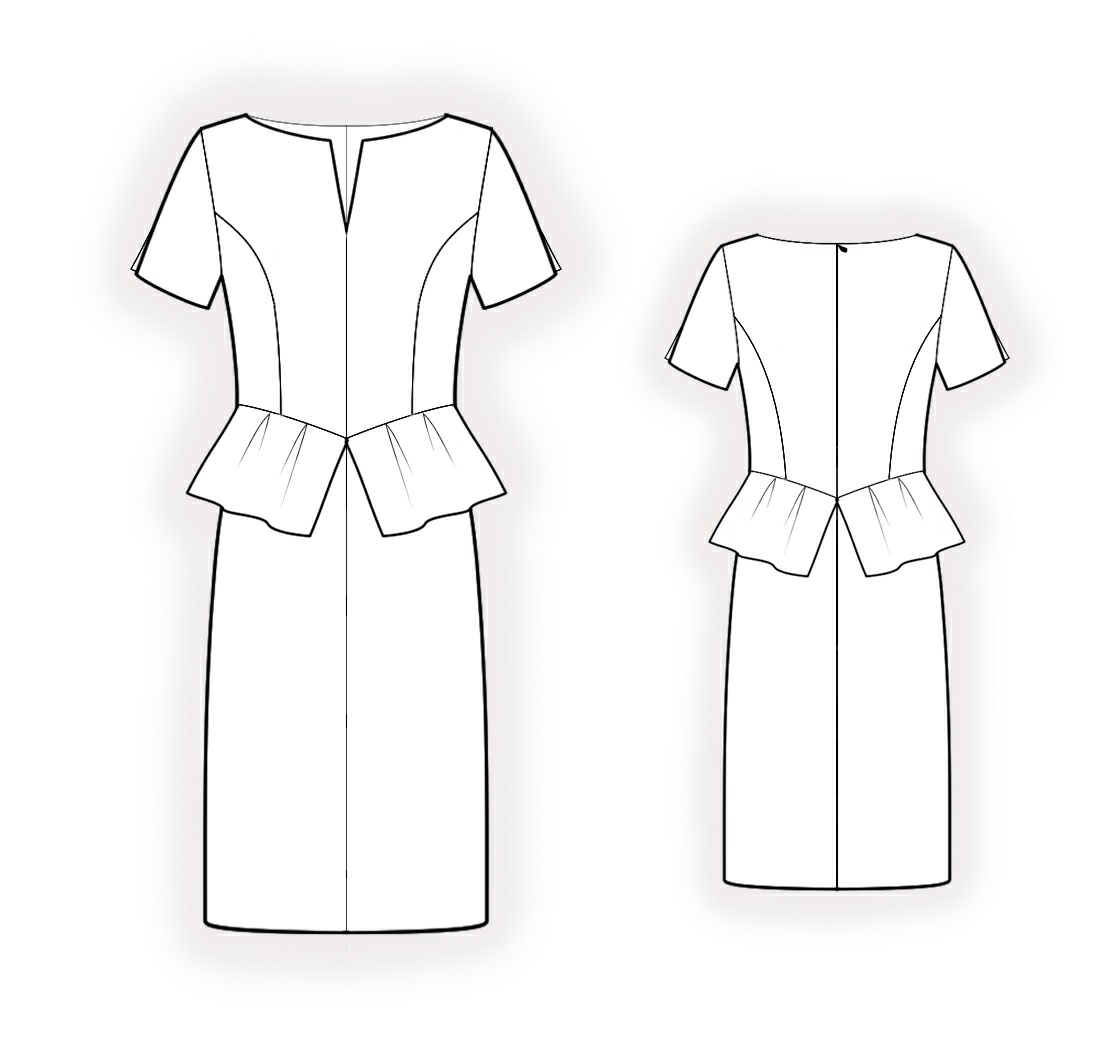 Dress with peplum sewing pattern 4232 made to measure sewing dress with peplum sewing pattern 4232 jeuxipadfo Gallery