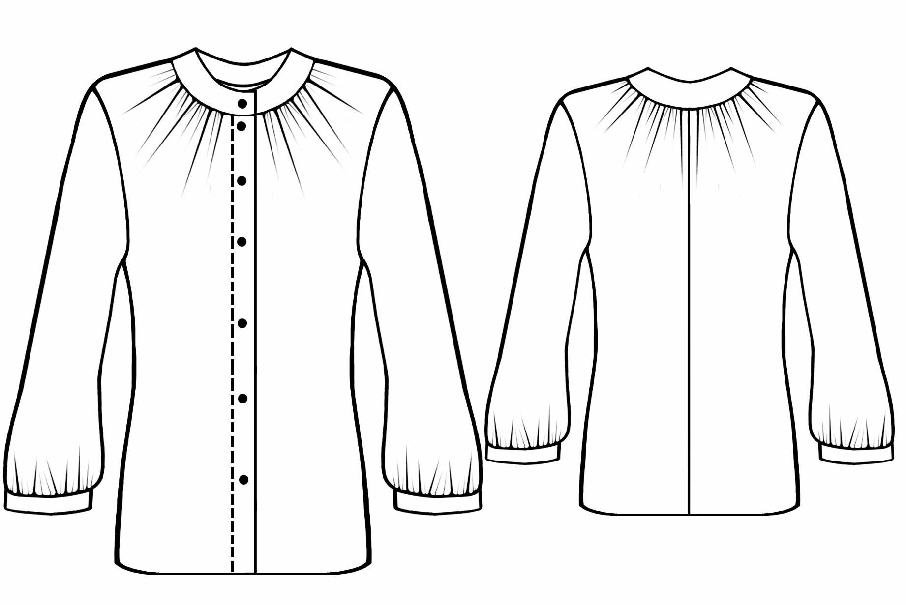 Blouse With Gathering Sewing Pattern 5572 Made To
