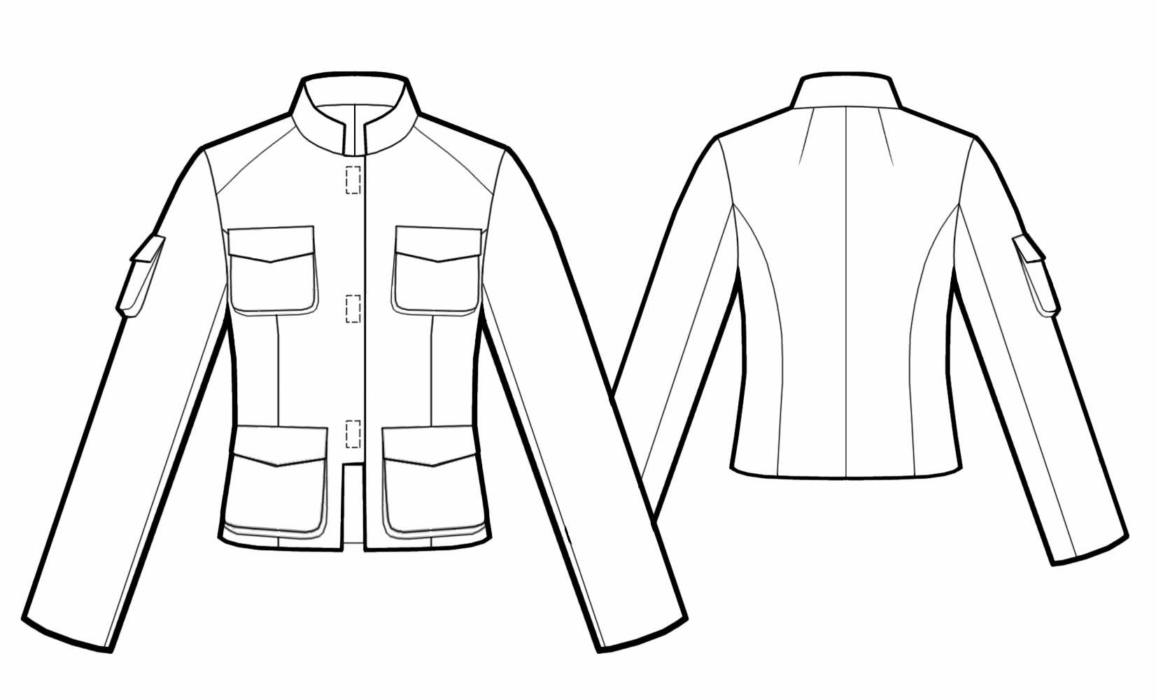 Jacket With Stand Collar Sewing Pattern 5538 Made To