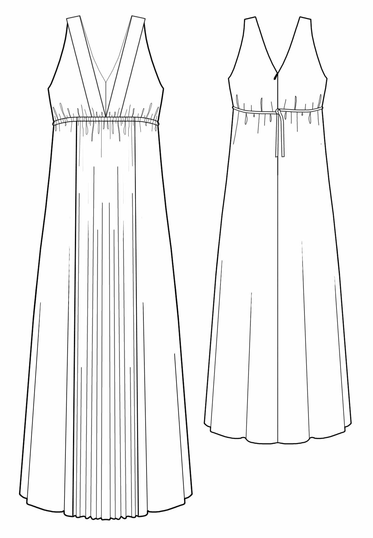 Выкройка платья в греческом стиле с