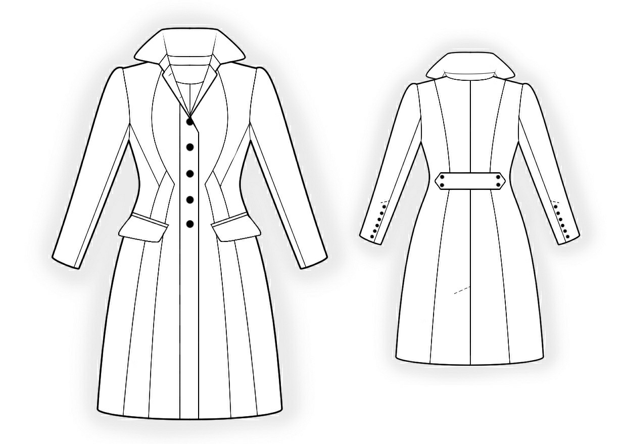 Waisted coat sewing pattern 4298 made to measure sewing waisted coat sewing pattern 4298 jeuxipadfo Images