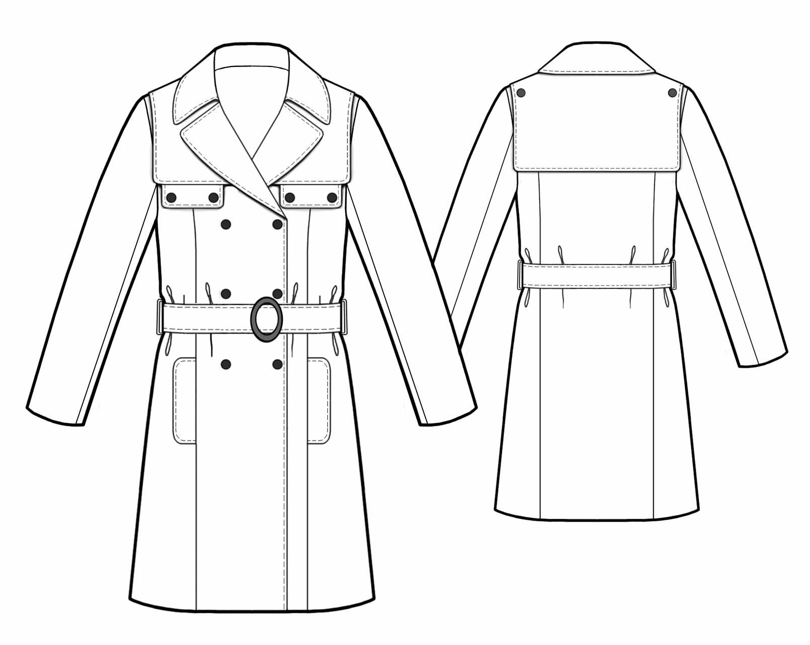 Trench coat sewing pattern 5488 made to measure sewing pattern trench coat sewing pattern 5488 jeuxipadfo Gallery