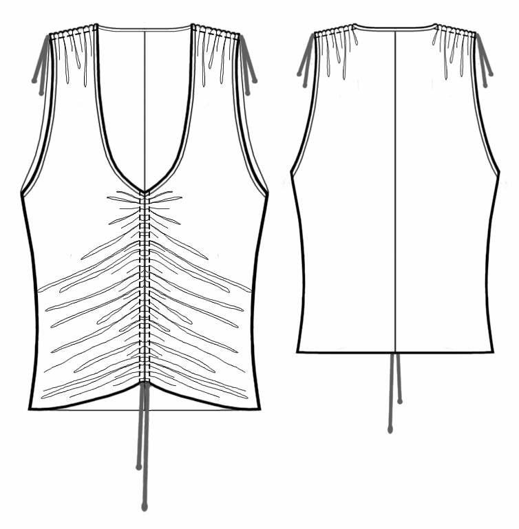Как сшить блузку испанку 73
