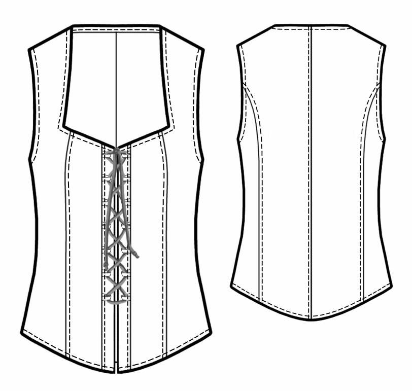 Corset - Sewing Pattern #5440. Made-to-measure sewing pattern from ...