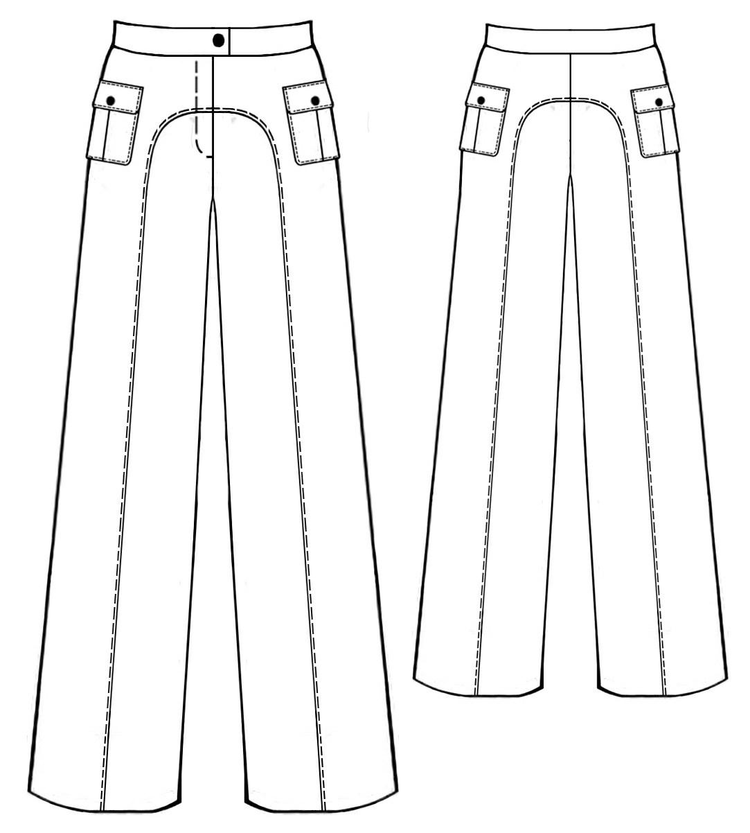 Сшить юбка брюки разных видов 66