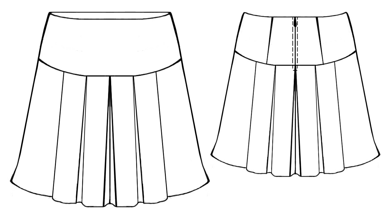 pleated skirt sewing pattern 5347 made to measure