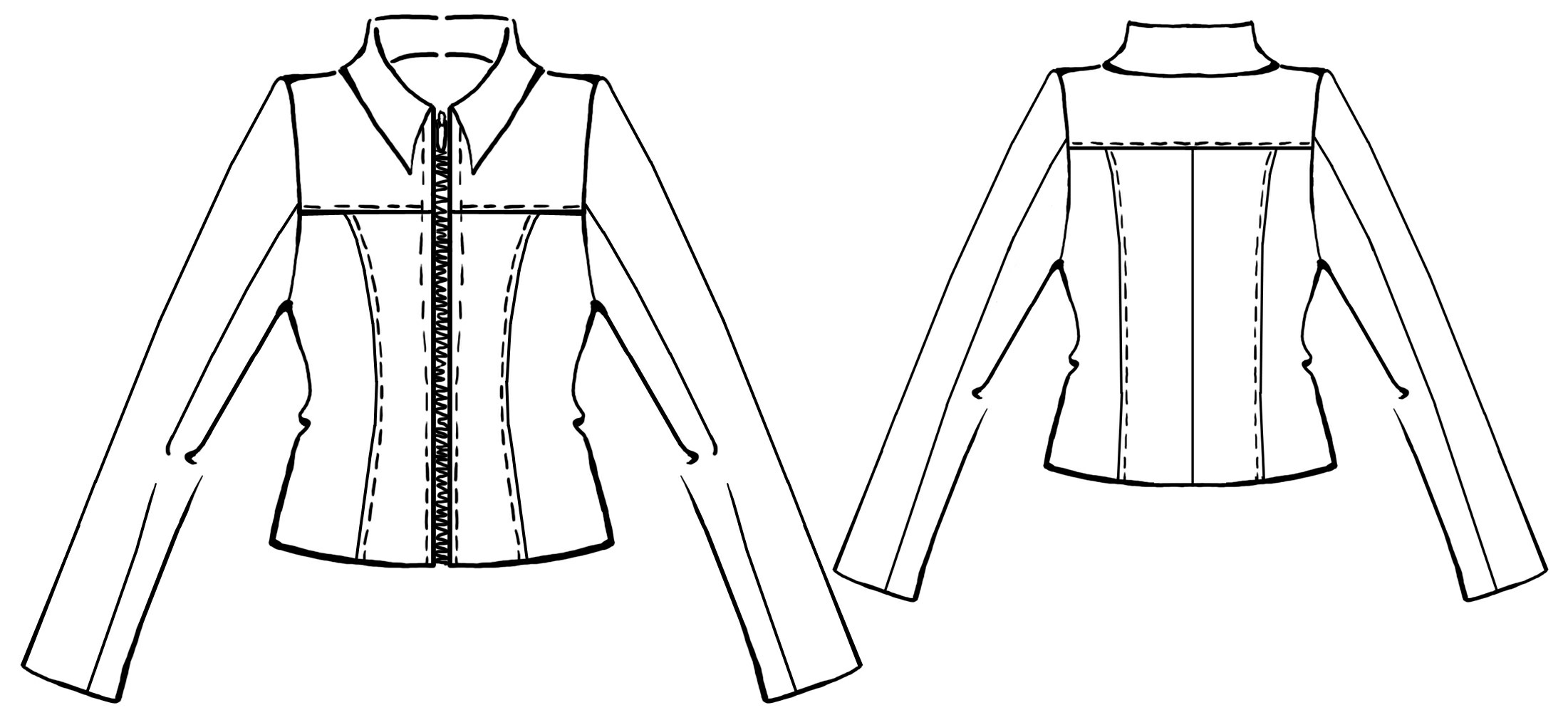 Leather Jacket - Sewing Pattern #5321. Made-to-measure sewing ...