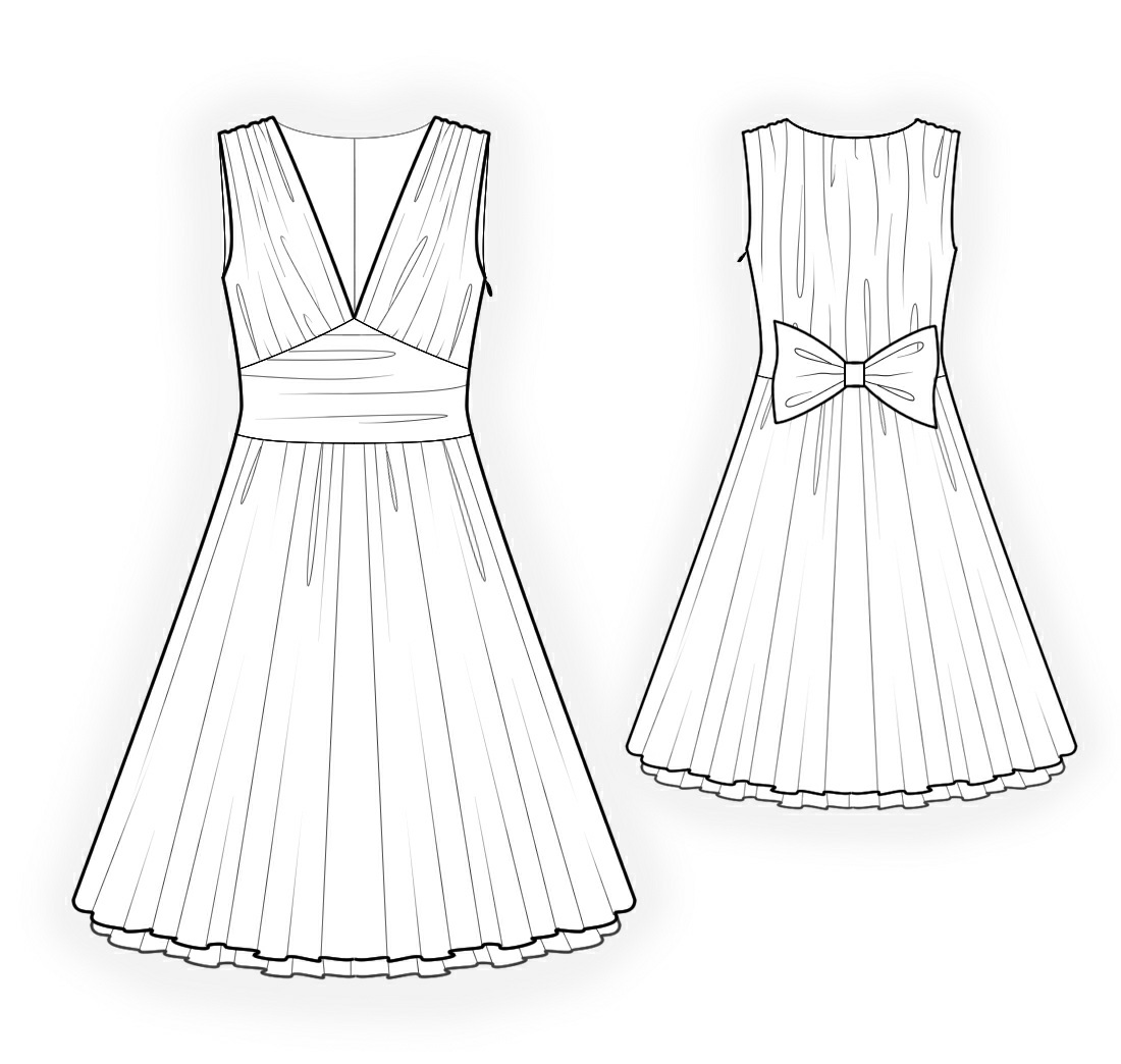 Sleeveless Dress - Sewing Pattern #4206. Made-to-measure ...
