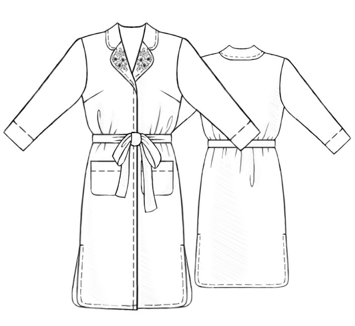 Dressing Gown - Sewing Pattern #5260. Made-to-measure sewing pattern ...
