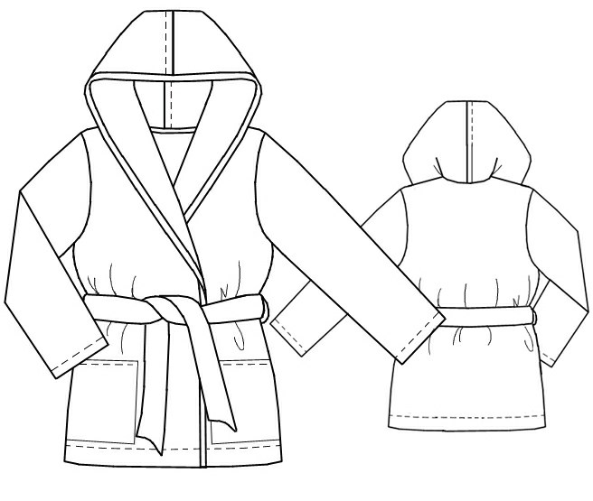 Hooded Dress Pattern Dressing Gown With Hood
